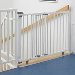 Treppengitter schwenkbar weiß