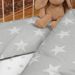 Bettwäsche Renforcé Sterne grau