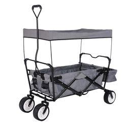 Klappbollerwagen Paxi  schwarz/grau