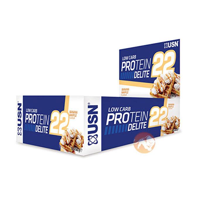 Protein Delite 22 12 Bars Banana Waffle