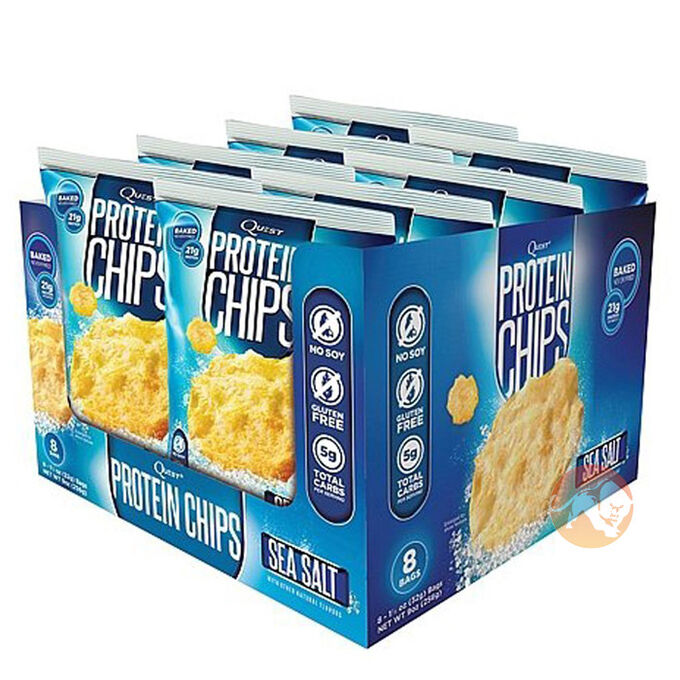 Quest Protein Chips 8 Pack Sea Salt