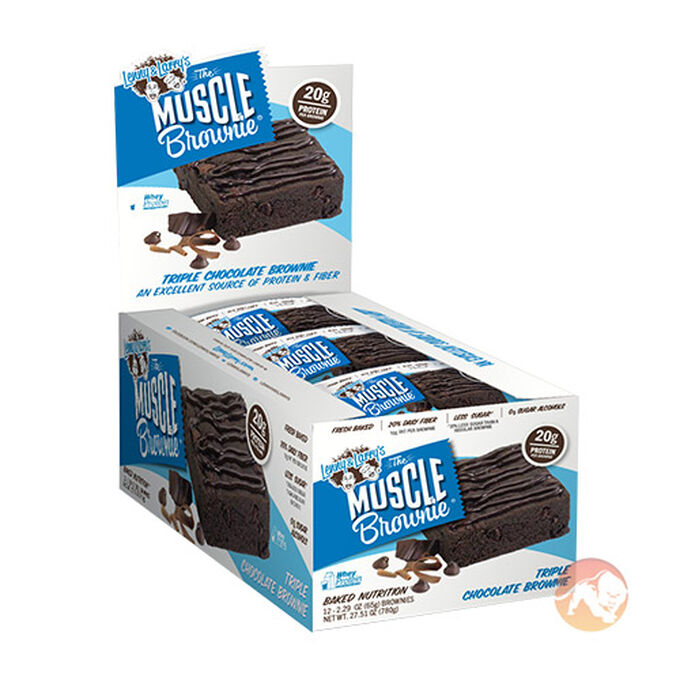 Muscle Brownie 12 Bars Triple Chocolate