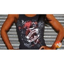Women's Red Dragon Tank Top Black-L