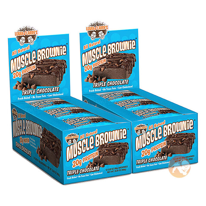 Muscle Brownie 12 Bars Peanut Butter