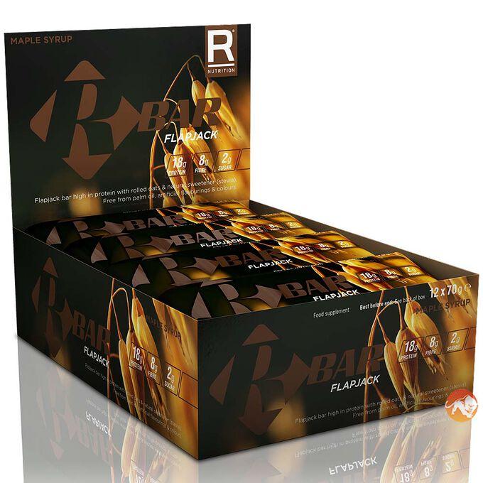 R Bar Flapjacks 12 Bars-Apple & Blackberry Crumble