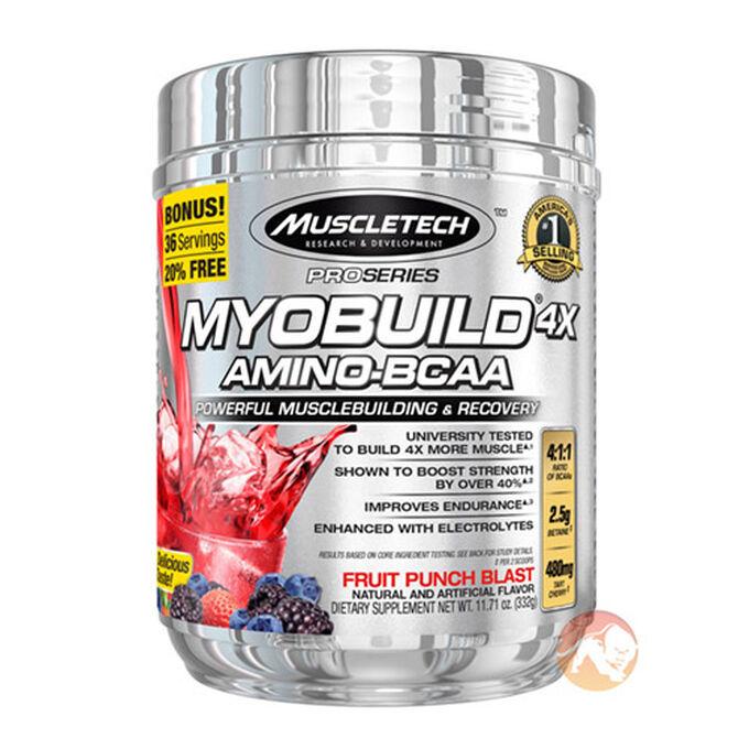 MyoBuild 4X 36 Servings Fruit Punch Blast