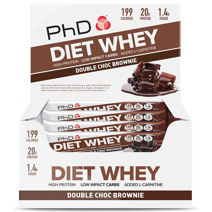 Diet Whey Bar 12 Bars Double Chocolate
