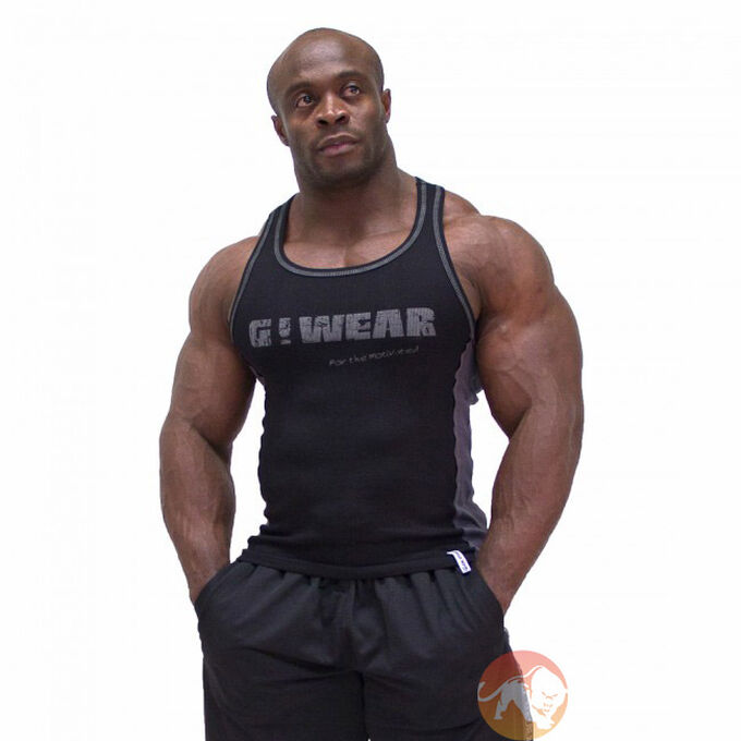 G!Wear Rib Tank Top Black/Grey
