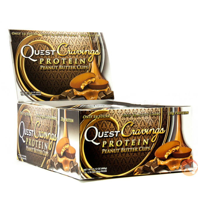 Quest Cravings Box of 12 - Peanut Butter Cups Peanut Butter Kup