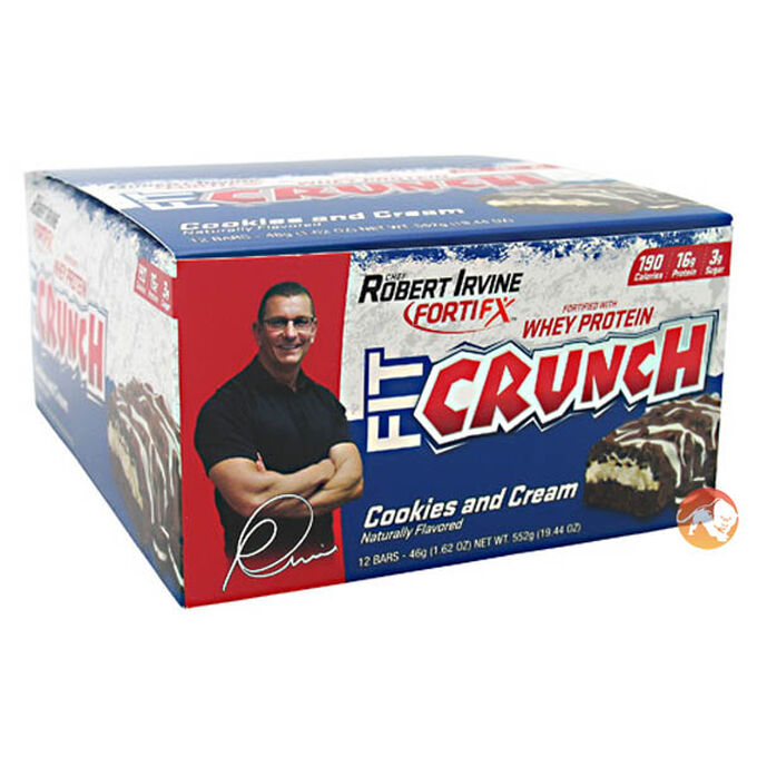 Fit Crunch Bars 12 x 88g Chocolate Chip Cookie Dough