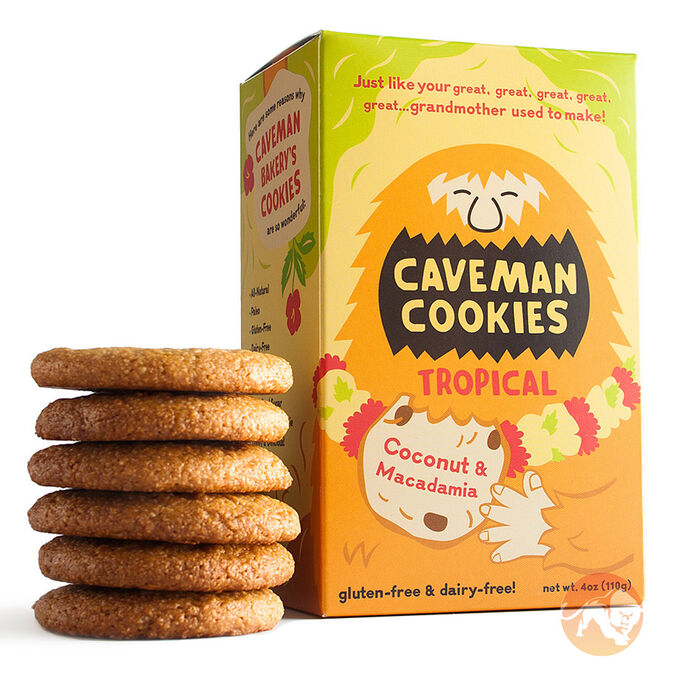 Caveman Cookies Rainforest 8 Cookies