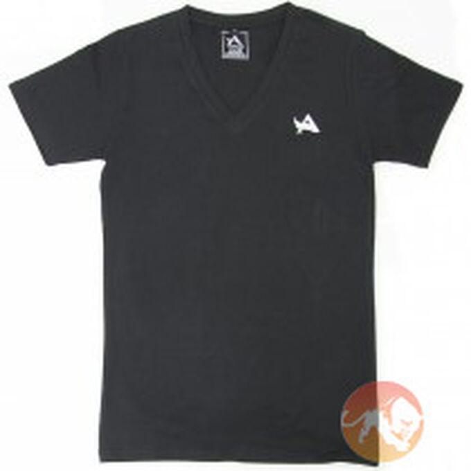 TEE V-Neck Black White S