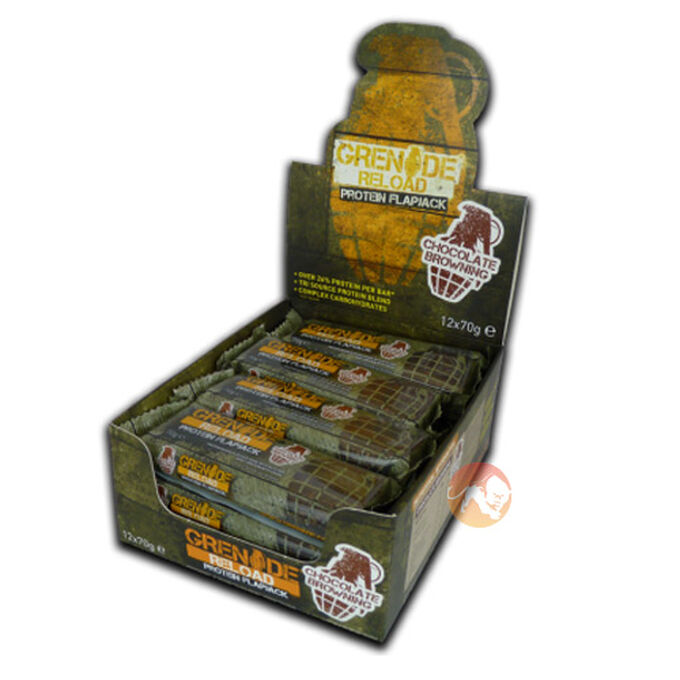 Grenade Reload Flapjacks 12 Flapjacks-Banoffee Blast
