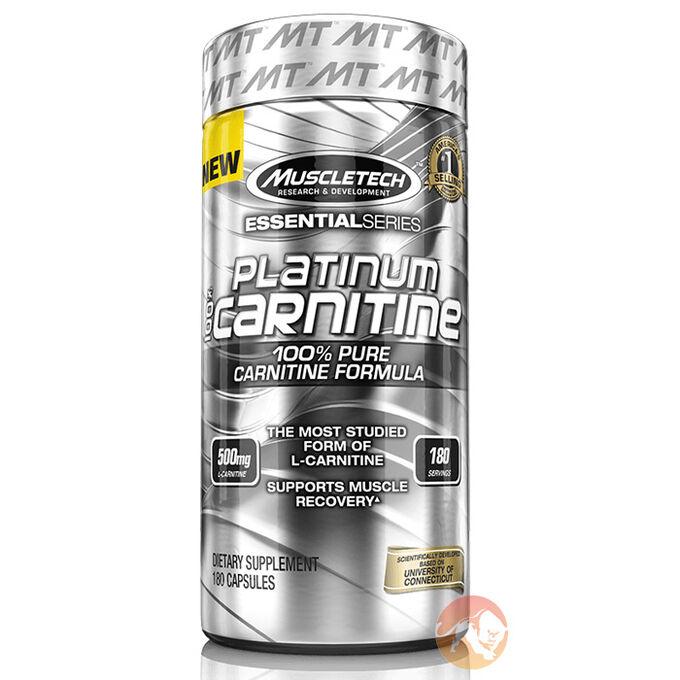 Platinum 100% Carnitine 180 Capsules