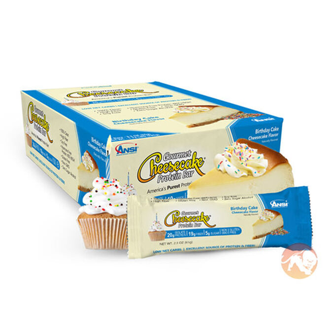 Gourmet Cheesecake Protein Bar 12 Bars Birthday Cake