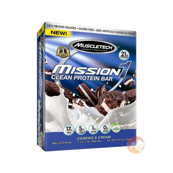 Mission 1 Bar 4 Bars Chocolate Brownie