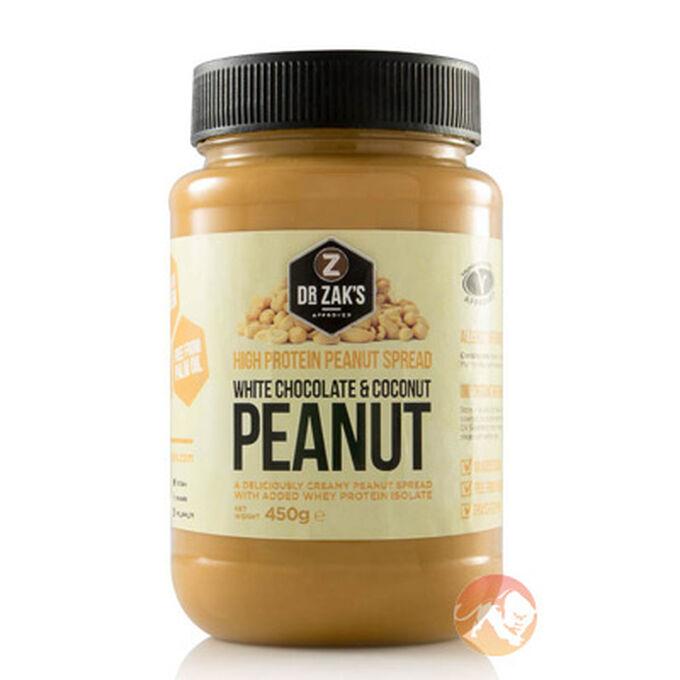 High Protein Peanut Spread 450g White Choc Coconut