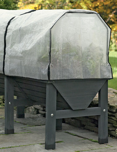 VegTrug™ Patio Garden with Covers, Charcoal Cold Frame, Coldframe, Plant Protection, Season Extenders, Greenhouse, Patio Greenhouse, Plant Cover