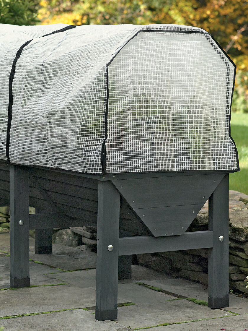 Charcoal VegTrug Patio Garden with Covers Gardenerscom