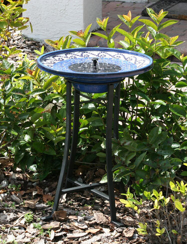 Mosaic Solar Bird Bath