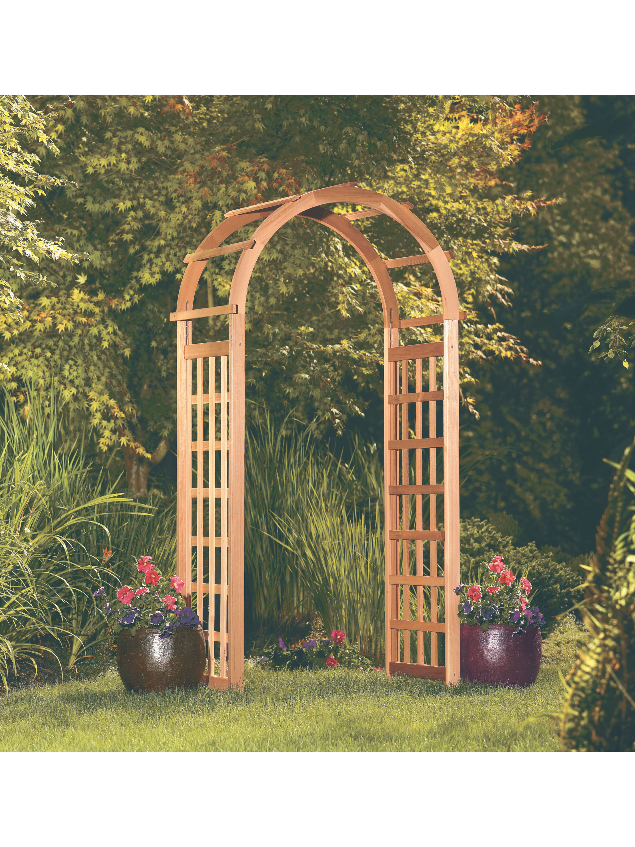 Wall Mounted Arched and Single Pergolas