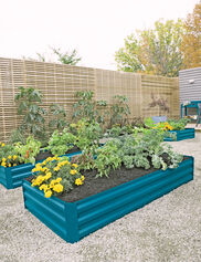 "Demeter Corrugated Metal Raised Bed, 34"" x 68"""