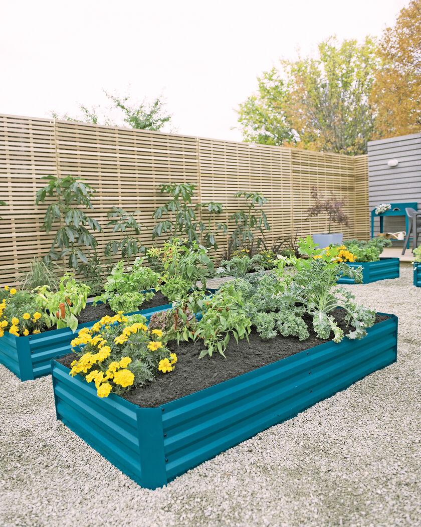 Corrugated Metal Raised Garden Beds Aquabarrel R Raised Garden Bed Steel Frame