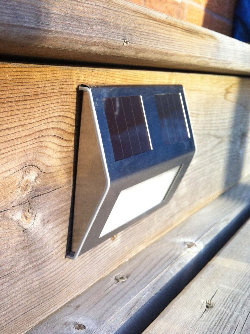 Solar deck lights set of 4 solar step lights solar stair lights - Solar deck lights for steps ...