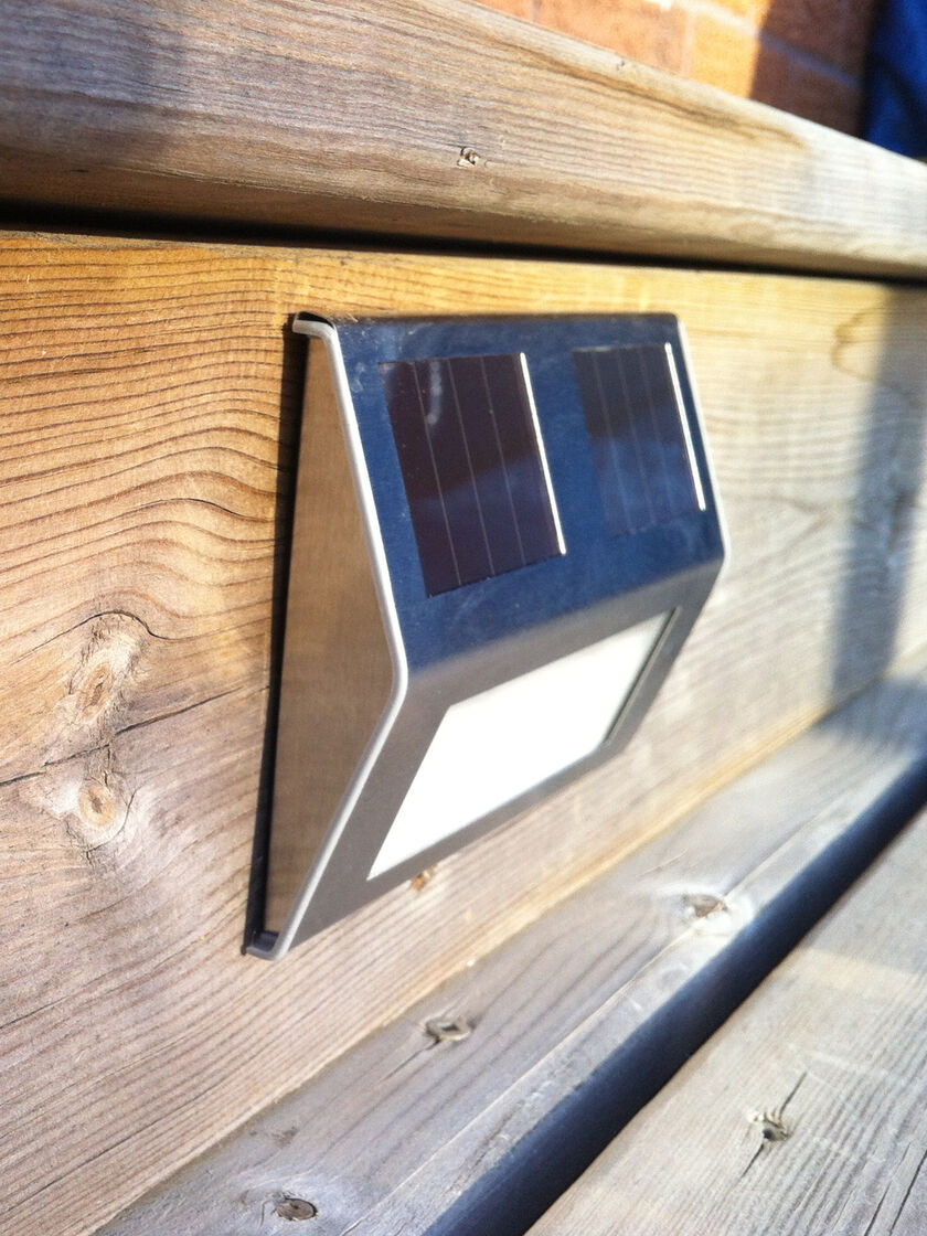 Solar Outdoor Step Lights: Solar Deck Lights, Set of 4,Lighting