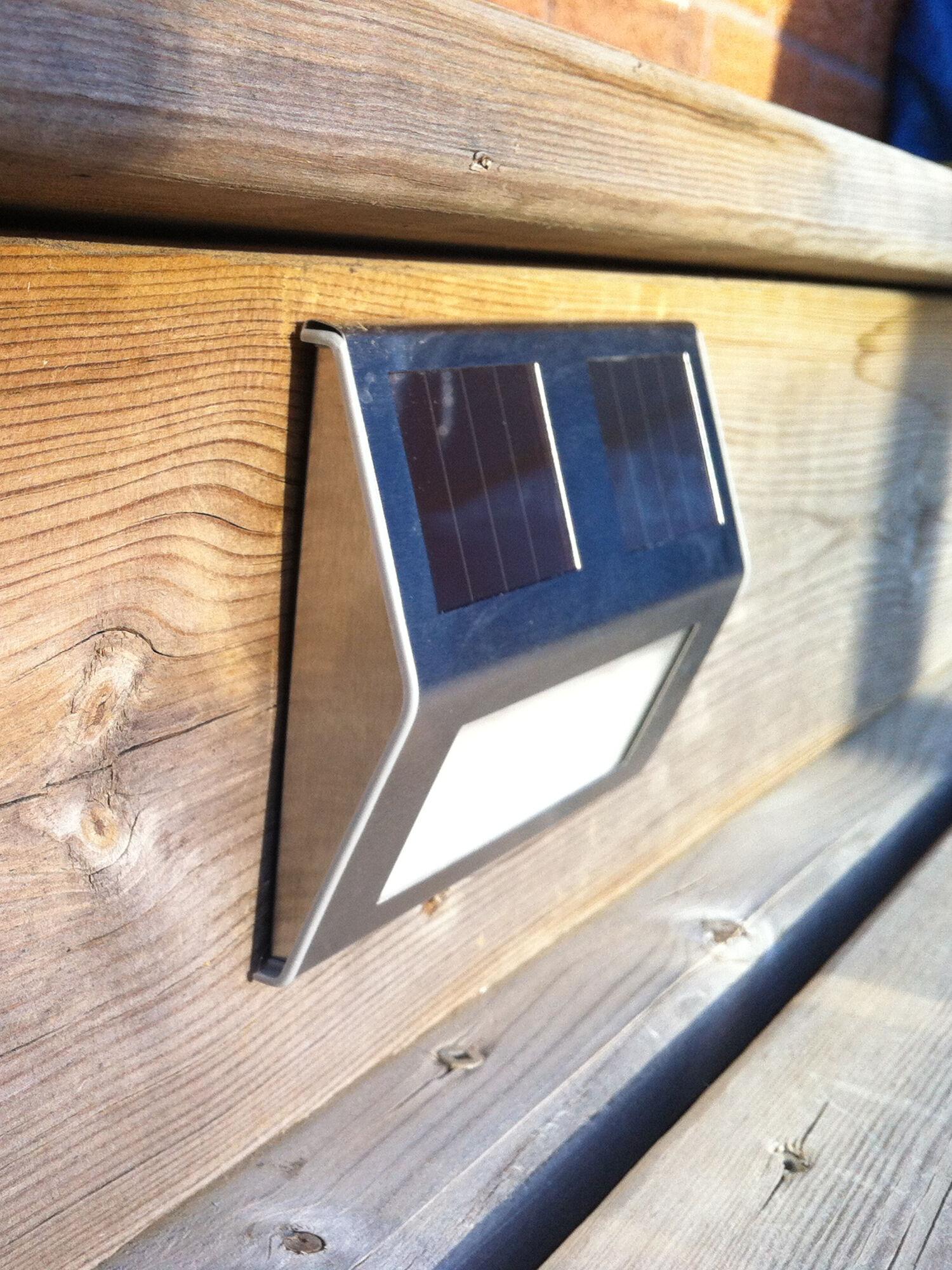 Solar Deck Lights, Set of 4