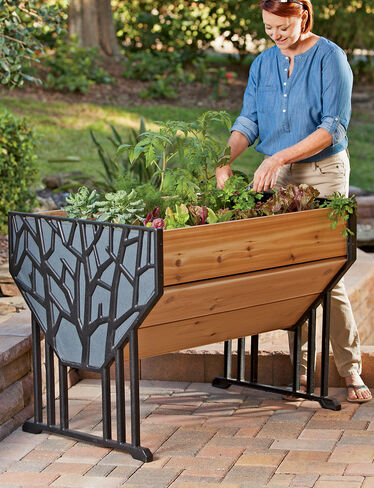 Cast Aluminum and Cedar VegTrug™