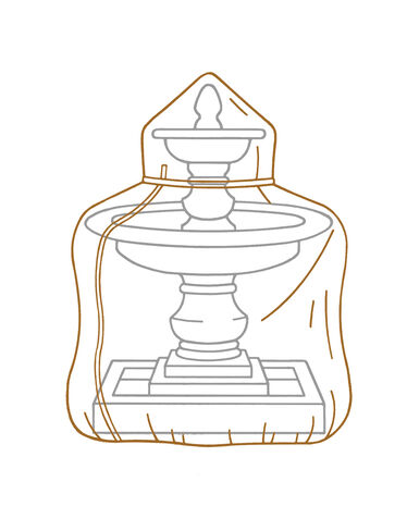 Deluxe Pedestal Fountain Covers