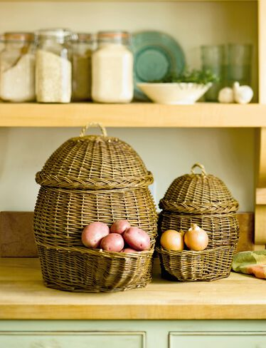 Potato and Onion Storage Baskets