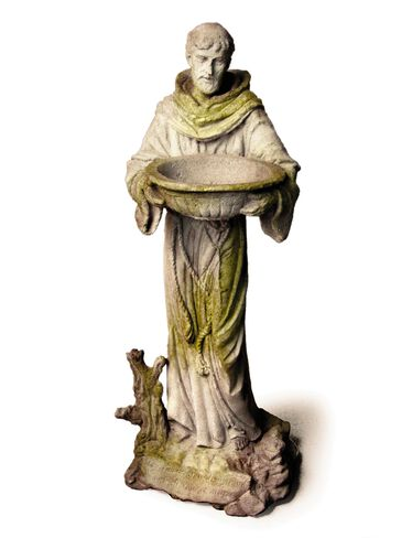 St. Francis Statue with Bowl