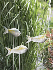 Medium Fish Out of Water Garden Stakes, Set of 3