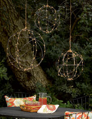 Wire Sphere Battery Operated LED Lights