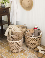 Bamboo Nesting Baskets, Set of 3