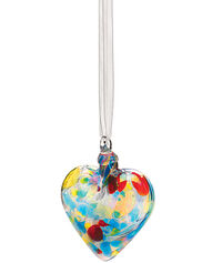 Glass Heart Ornament, Iridescent