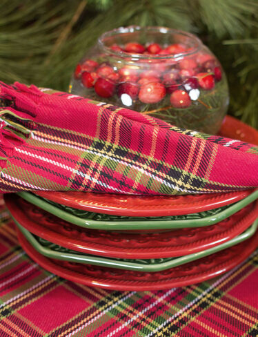 Tartan Plaid Napkins, Set of 4