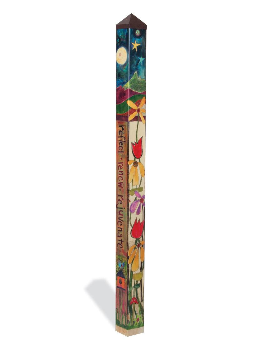 Garden art pole 1000 images about peace poles painted for Gardeners supply burlington