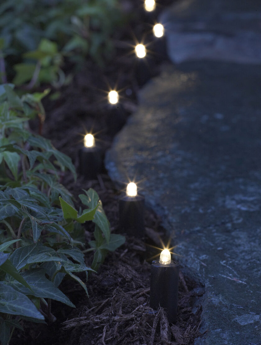 Led Solar String Lights For Garden Borders And Paths