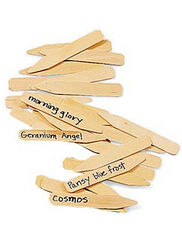 "4"" Wooden Plant Markers, Set of 24"
