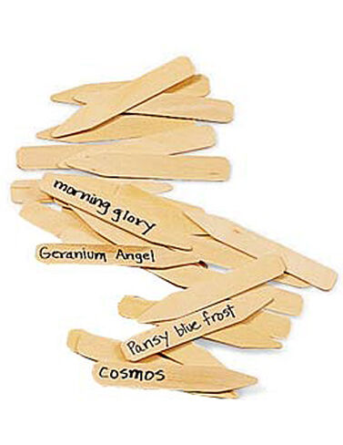 "4"" Wooden Plant Markers, Set of 24 Seed Starting, Seedling, Seedstarting Supplies, Gardening, Seed-Starting, Garden"