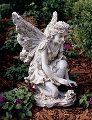 Kneeling Fairy Garden Statue