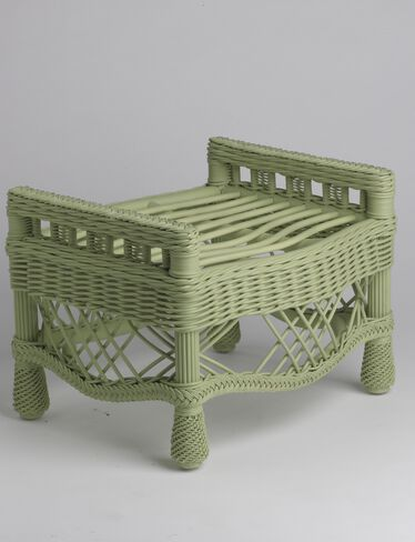 Summer Cottage Wicker Ottoman
