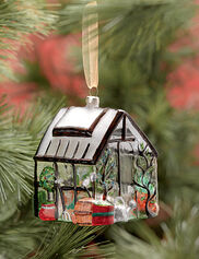 Glass Greenhouse Ornament