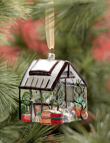 Glass Greenhouse Ornament