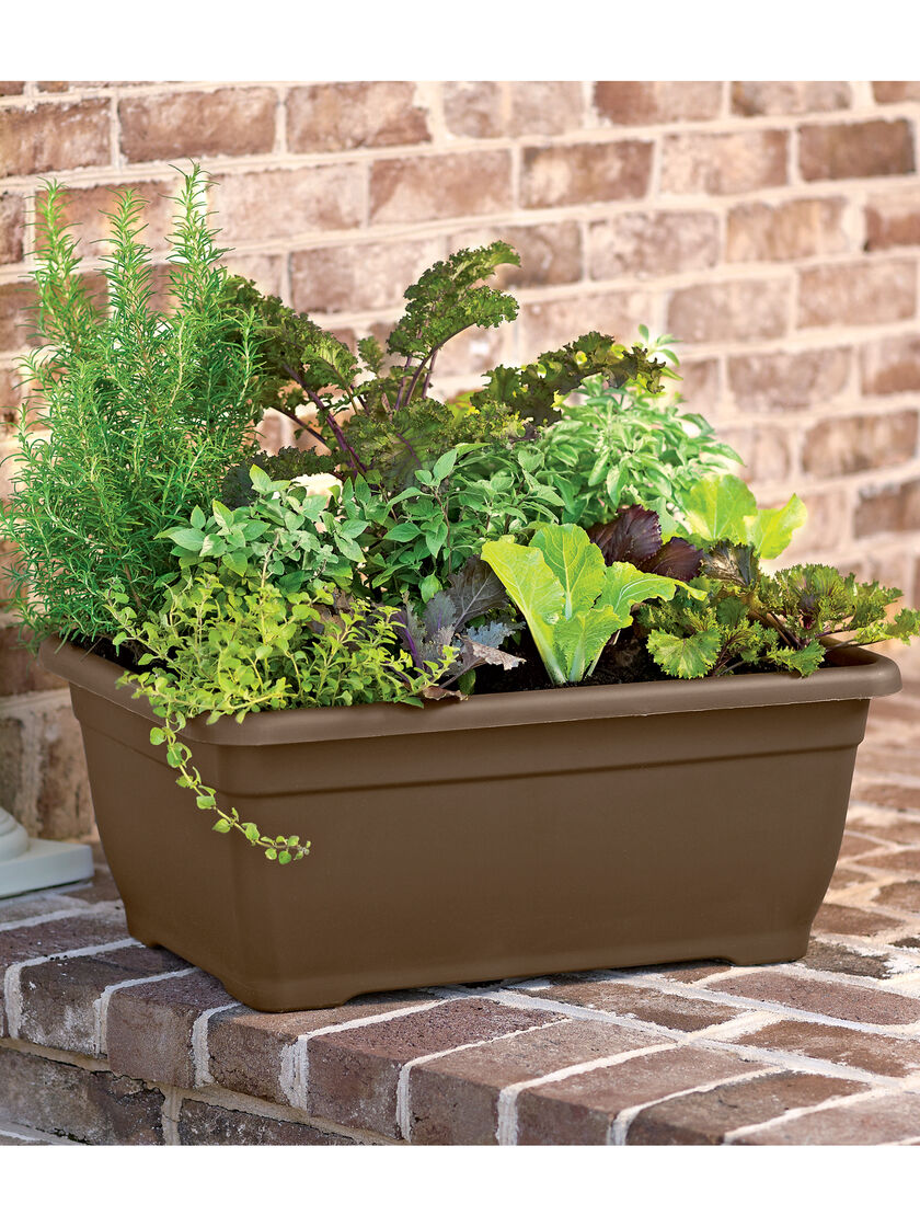 Herb Planter Self Watering Patio Planter Gardeners Com