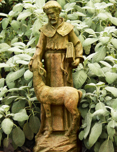 Saint Francis with Deer Garden Sculpture