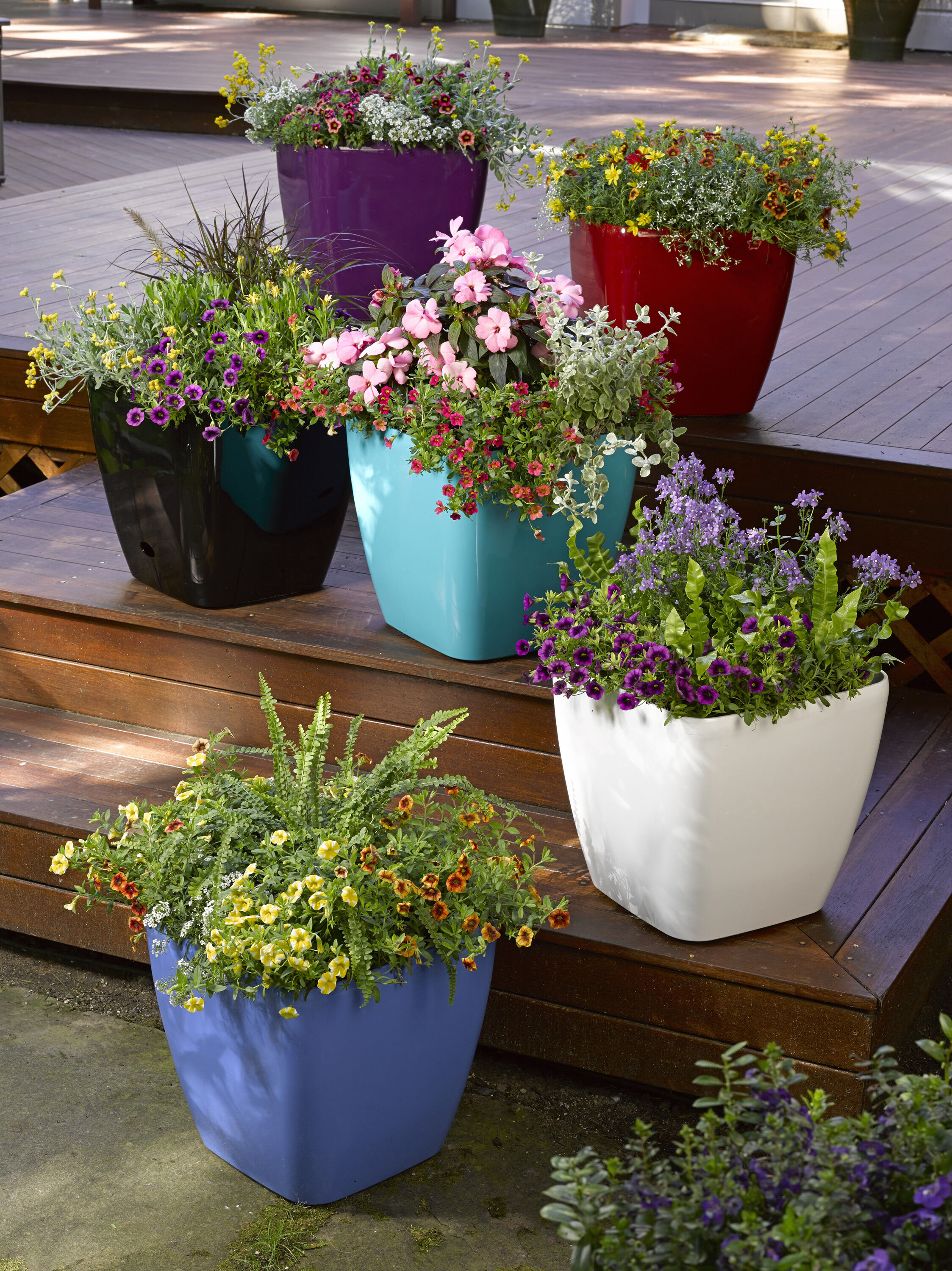 self watering planters flower pots containers